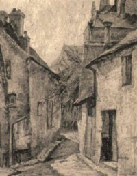 street in moret-sur-loing by edgar rowley smart