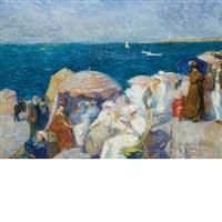 sur la plage, dieppe by charles andre fidrit