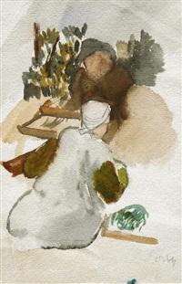 zwei figuren by otto niemeyer-holstein