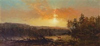 sunset in the adirondacks by james mcdougal hart