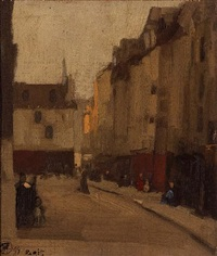 paris street scene by xavier martinez