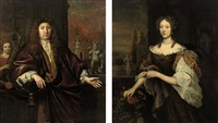 portrait of gisbert cuper (+ portrait of aleida van suchtelen; pair) by jan de baen