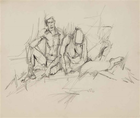 untitled (two nudes) by jack tworkov