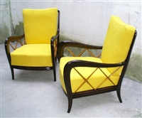 two armchairs by paolo buffa