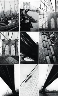brooklyn bridge (9 works) by walker evans