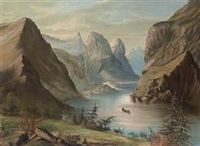 on the fraser river, rocky mountains by william armstrong