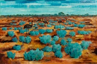 emus on the plain by jean isherwood
