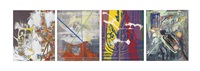 ohne titel (sommerbilder i-iv) no. 1-4 (untitled (summer pictures i-iv) no. 1-4)) by sigmar polke