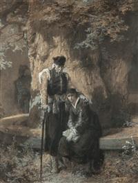 miecznik i maria rozpaczający po wyjeździe wacława by elviro michael andriolli