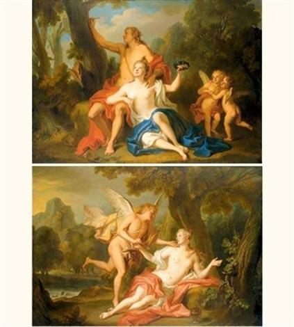 scènes de lhistoire dangélique et médor pair by noël nicolas coypel