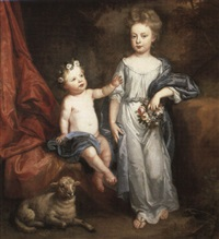 portrait of two children by john medina