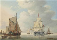 a calm day on the scheldt by jan hendrik boshamer