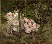 la brouette fleurie by berthe art