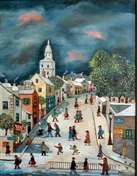 rue de l'abreuvoir l'hiver by jean fous