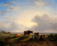 cattle in a meadow by jan bedijs tom