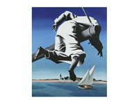 shipwrecked by mark kostabi