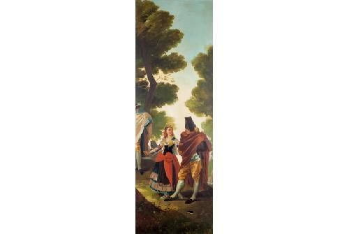 la maja y los embozados fragmento after goya by francisco javier amerigo y aparici
