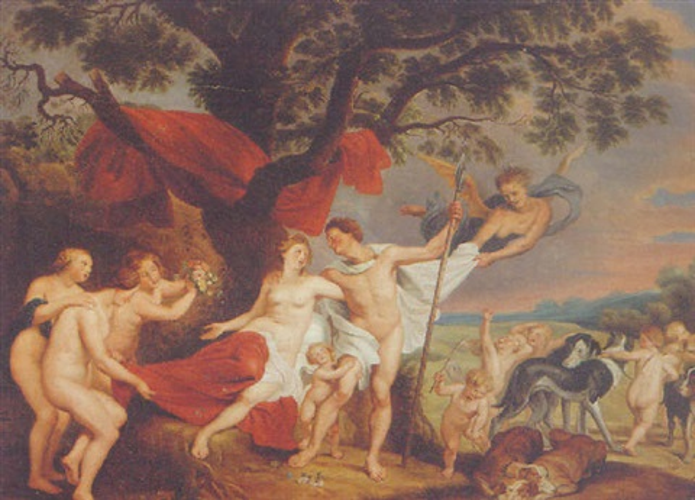 venus and adonis painting rubens