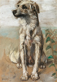 sitzender hund by vincenzo gemito