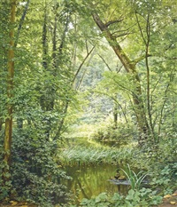 the woodland pool by henri biva