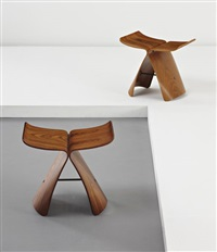 two butterfly stools by sori yanagi
