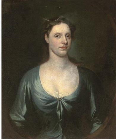 portrait of mr herbert in a red coat portrait of mrs herbert in a blue dress pair by william aikman