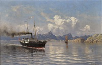 the steamboat helga by frithjof smith-hald