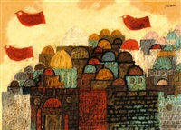 peace dove over jerusalem by jean david