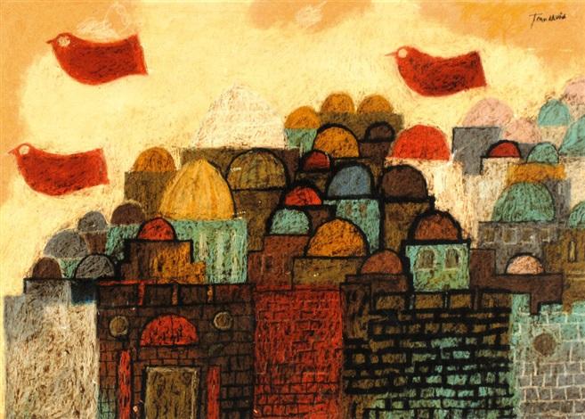 peace dove over jerusalem by jean david