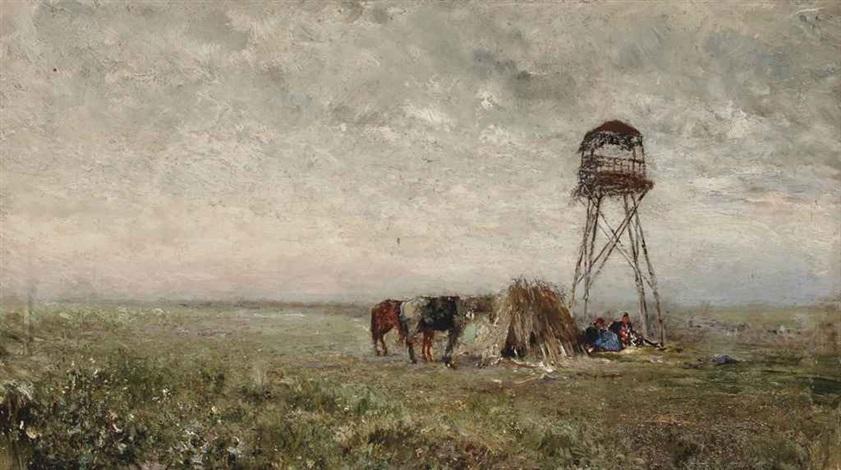cosaques sous la tour de guet à la frontière du caucase by ivan pavlovich pokhitonov