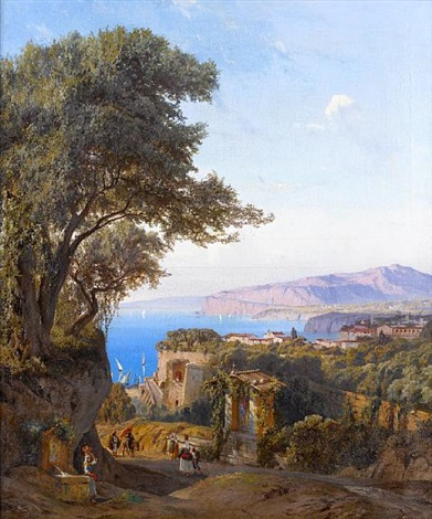 at the fountain sorrento by ludwig franz karl bohnstedt