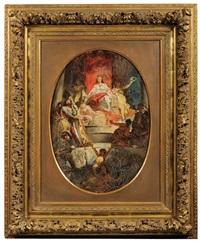 allegory of prague by adolf liebscher