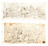 deux scènes de bataille by jacques courtois