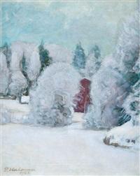 winter motif by pekka halonen
