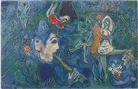 pl. 28, from le cirque by marc chagall