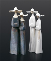 nuns (2 works) by lladró