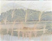 lake in autumn by yoshida yoshihiko