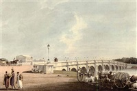 north east view of the new bridge near the government gardens, madras by john gantz