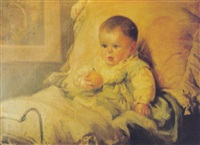 figura de niña (maría angélica herrera, hija del pintor) by carlos maría herrera