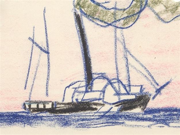 old sidewheeler by lyonel feininger