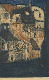 untitled (houses) by akbar padamsee