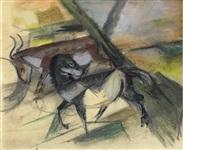 pferd und rind by franz marc