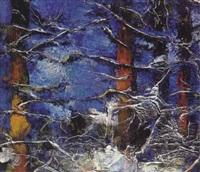 baumgruppe im winter by erhard theodor astler