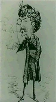 caricature of whistler by alfred bryan