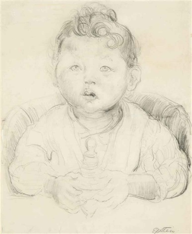 portrait of a baby by sir jacob epstein