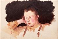 autoportrét by karel langer
