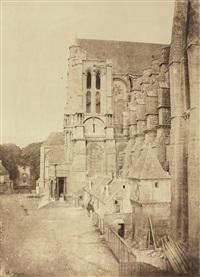 cathédrale de chartres, côté nord, vu de l'ouest by charles nègre