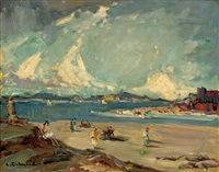on the coast of brittany at dinard by leonard richmond