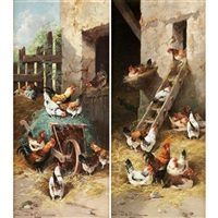 chickens (2 works) by jules bathieu
