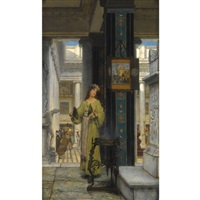in the temple by sir lawrence alma-tadema